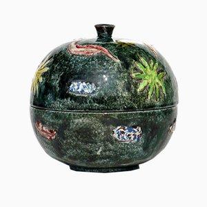 Getöpferter italienischer Keramikbehälter von Tassinari Faenza, 1970er