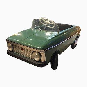 Coche de juguete a pedales Moskvich en verde petróleo, años 70