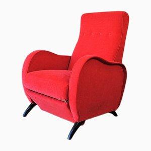 Mid-Century Italian Reclining Chair, 1950s