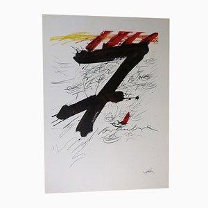 Litografía November 7 de Antoni Tàpies para Sala Gaspar, 1971
