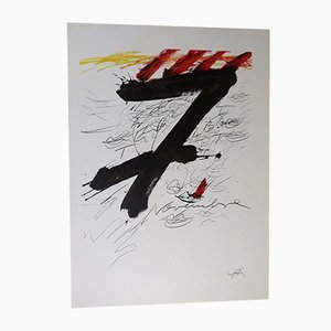 November 7 Lithograph by Antoni Tàpies for Gaspar Sala, 1971