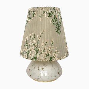 Lampada da tavolo grande vintage in vetro con luce nella base, anni '60