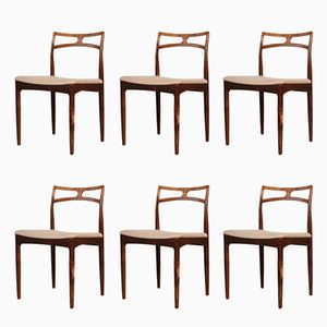 Model 94 Rosewood Dining Chairs by Johannes Andersen for Christian Linneberg, 1960s, Set of 6