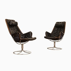 Leather Jetson Chairs by Bruno Mathsson for Dux, 1970s, Set of 2