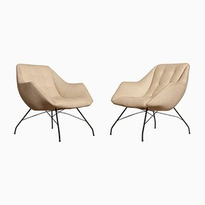 Concha Shell Lounge Chairs by Carlo Hauner and Martin Eisler for Forma, 1950s, Set of 2