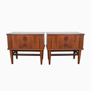 Mid-Century Danish Rosewood Nighstands, 1960s, Set of 2