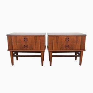 Tables de Chevet Mid-Century en Palissandre, Danemark, 1960s, Set de 2