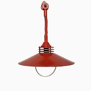 Lampada vintage in metallo rosso di ZESI Nowe, Estonia, anni '70