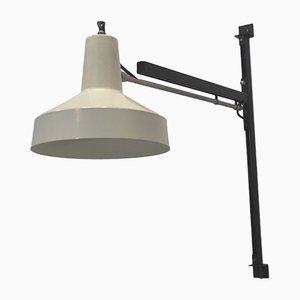 Weiß lackierte Vintage Lampe von Niek Hiemstra für Hiemstra Evolux, 1960er