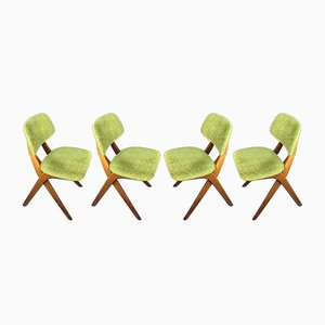 Chairs by Louis Van Teeffelen for Wébé, 1960s, Set of 4