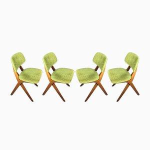 Stühle von Louis Van Teeffelen für Wébé, 1960er, 4er Set