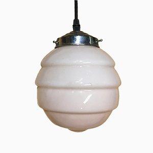 Lampada da soffitto Art Déco in vetro opalino rosa, anni '20