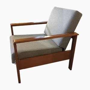 Vintage Danish Houndstooth Lounge Chair