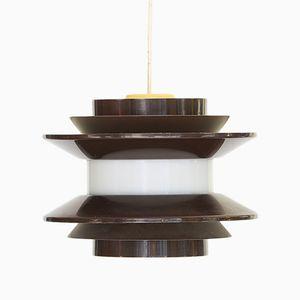 Lampe à Suspension Trava Marron par Carl Thore pour Granhaga en Metallindustri, Suède, 1970s
