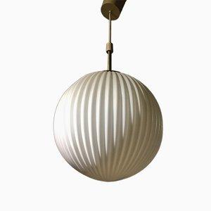 Vintage Danish Crystal Sphere Pendant Lamp