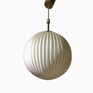 Lampe à Suspension Vintage en Sphère de Cristal, Danemark