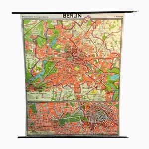 Mapa escolar de Berlín vintage de Westermann, 1965