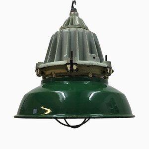 Lámpara colgante industrial grande, años 50