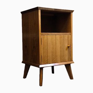 Mid-Century Walnut Bedside Table by Alfred Cox for Heal's