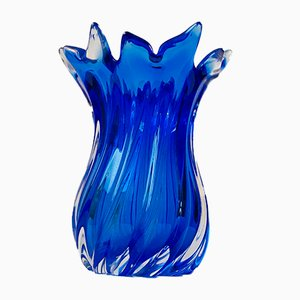 Large Blue Sommerso Vase from Seguso, 1960s