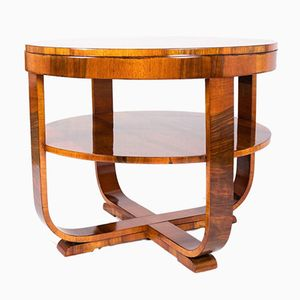 French Art-Deco Walnut Coffee Table, 1930s