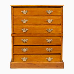 Vintage Edwardian Pine Chest of 6 Drawers, 1920s