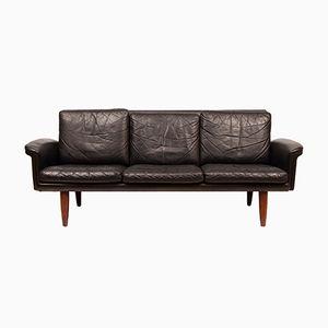 Danish Leather Sofa, 1960s