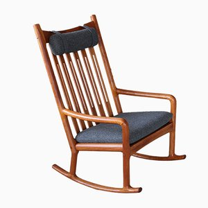 Mid-Century Teak Rocking Chair by Hans Olsen for Juul Kristensen, 1960s