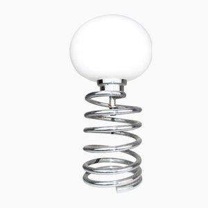 Tischlampe mit spiralförmigem Fuß aus Edelstahl von Ingo Maurer, 1960er