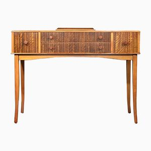 Mid-Century Walnut and Birch Console Table from Heal's