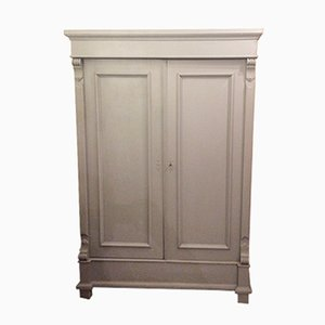 Antique Grey Wardrobe
