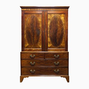 Antique Mahogany Wardrobe, 1780s