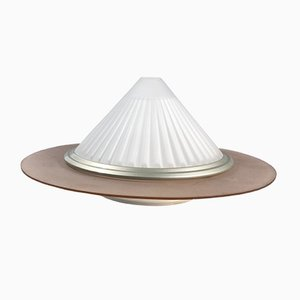 Ribbed Cone Glass Sconce by Ezio Didone for Arteluce, 1989