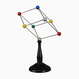Wissenschaftliches Molekülmodell aus Kristallglas, 1960er