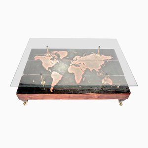 Mesa de centro con mapa del mundo de Cappa E Spada