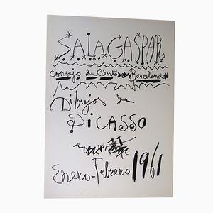 Dessin par Pablo Picasso pour Sala Gaspar, 1961