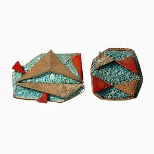 Sculture in ceramica di Ugo Lucerni Firenze, Italia, anni '60, set di 2