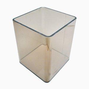Revistero vintage de cristal ahumado de Michel Dumas para Roche Bobois