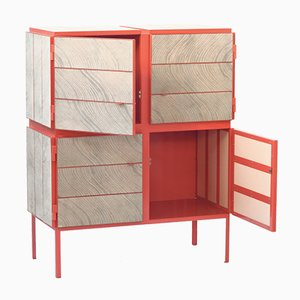 RAL3022 Salmon Pink Framed Cabinet by Breg Hanssen for Vij5, 2014