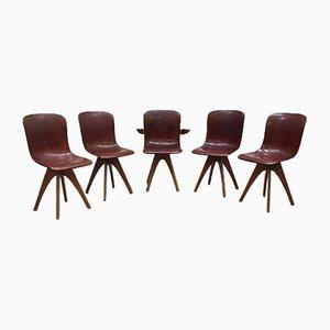 Industrielle Vintage Stühle von Adam Stegner für Pagholz Flötotto, 5er Set