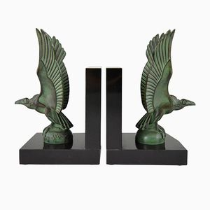 Art Deco Vulture Bookends by Max Le Verrier, 1930