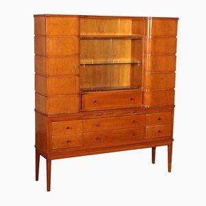 Mobiletto vintage in legno impiallacciato in acero, anni '40