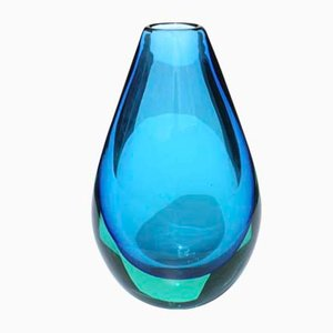 Mid-Century Murano Glass Vase by Flavio Poli for Seguso, 1950s