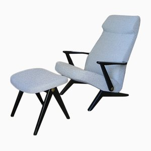 Triva Armchair and Ottoman by Bengt Ruda for Nordiska Kompaniet, 1953