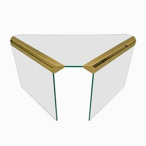 Brass & Glass Side Table by Pierangelo Gallotti for Gallotti & Radice, 1970s