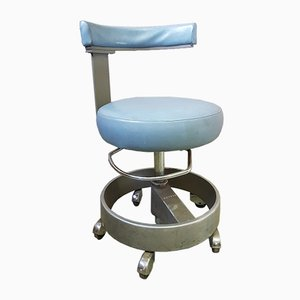 Vintage Industrial Medical Stool from Siemens