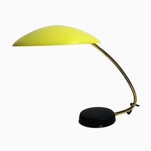 Lámpara de escritorio amarilla de Cosack, años 50
