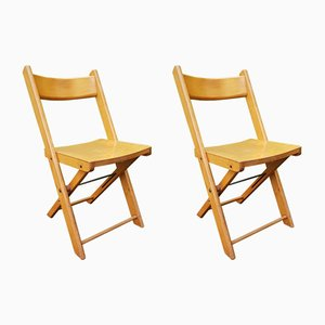 Vintage German Folding Chairs, 1950s, Set of 2