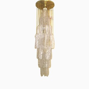Vintage Murano Glass Chandelier, 1970s