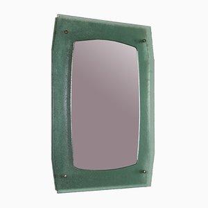 Vintage Italian Teal Wall Mirror, 1960s